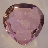 I Love You daughter & Heart Pink