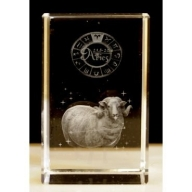Zodiac Crystal Block Aries