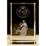 Zodiac Crystal Block Virgo