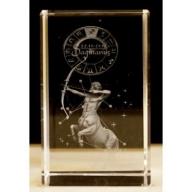 Zodiac Crystal Block Sagittarius