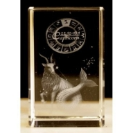 Zodiac Crystal Block Capricorn