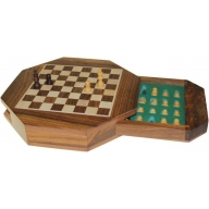 Octagonal Chess Set - Magnetic