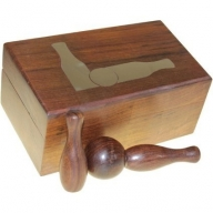 Twelve Piece Bowling Set in Wooden Box