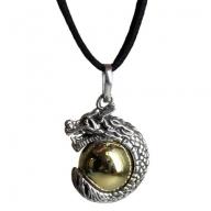 Silver Animal Spirits Calling Bell - Dragon