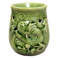 Dragon Green Jade Oil Burner
