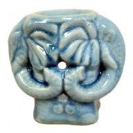 Elephant Blue Glaze Oil Burner