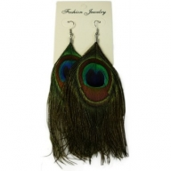 Feather Earring – Peacock