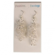Gemstone Cluster Earrings - Crystal