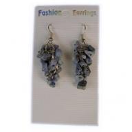 Gemstone Cluster Earrings - Lapis