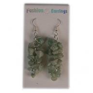 Gemstone Cluster Earrings-Adventurine