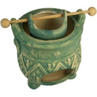 """Aged"" Rustic Design Caldron Green 110mm"