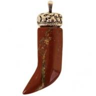 Dagger Pendant - Red Jasper