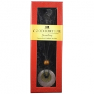 Good Fortune Necklace - Donut - Rose Qtz