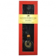 Good Fortune Necklace - Donut - Onyx