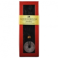 Good Fortune Necklace - Coin - Rose Qtz