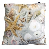 Art Cushion Cover - Shells in Sand