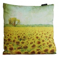 Art Cushion Cover - Sunflower Field - Grunge