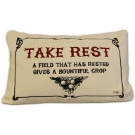 Canvas Cushion Cover - Take Rest