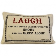 Canvas Cushion Cover - Laugh