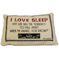 Canvas Cushion Cover - I love sleep