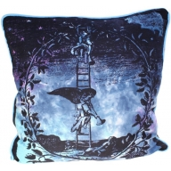 Angel on Ladder Cotton Print Cushion Cover