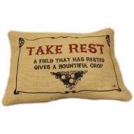 Jute Cushion Cover - Take Rest