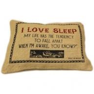 Jute Cushion Cover - I Love Sleep