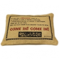 Jute Cushion Cover - Come In!