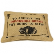Jute Cushion Cover - Impossible
