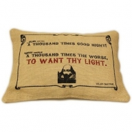 Jute Cushion Cover - To Want Thy Light