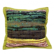 Rug Cushion Cover - Olive