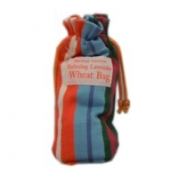 Small Stripy Print 25cm Toggle Wheat Bag