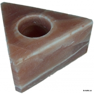 Triangle Himalayan Salt Candle Holder - 10cm x 6cm