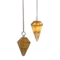 Amber Flourite Pendulums