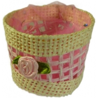 Favours - Round Basket - Pink - Per 6 Units
