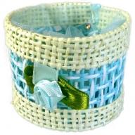 Favours - Round Basket - Blue - Per 6 Units