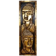 Lrg Buddha Stand Golden and Black
