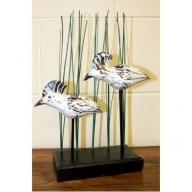Wooden Art - Water Hens