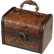 Lrg Colonial Box - Floral Embossed