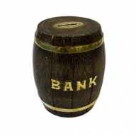 Money Bank Box - Small Barrel