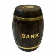 Money Bank Box - Large Barrel