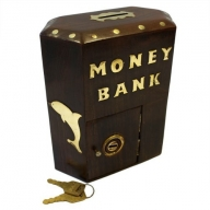 Money Bank Box - Large Hex Box