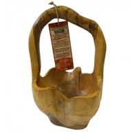 Teak Root - Small Back Handle Bowl