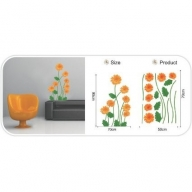 Wall Decor - Orange Flowers