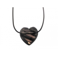 Midnight Lace Obsidian - 30mm Heart Pendant