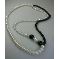 Perilous Pearls Simple Long Drop Necklace