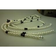 Perilous Pearls Diamante Flower Necklace