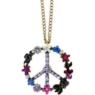Retro Bling Pendants - Peace