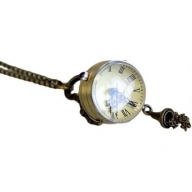 Steampunk Pendant - Magnifying Clock