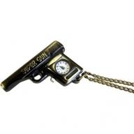 Steampunk Pendant - Super Gun Clock